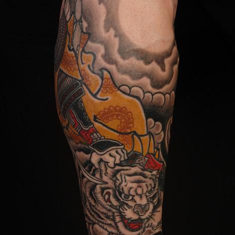 Japanese Samurai Tiger Tattoo
