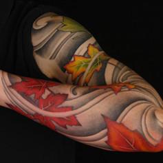 Japanese Style Maple Leaf Tattoo