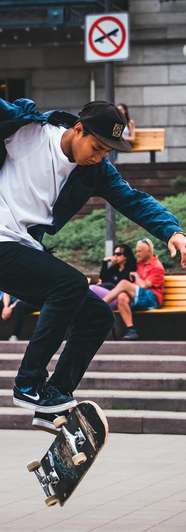 Skateur à Montreal