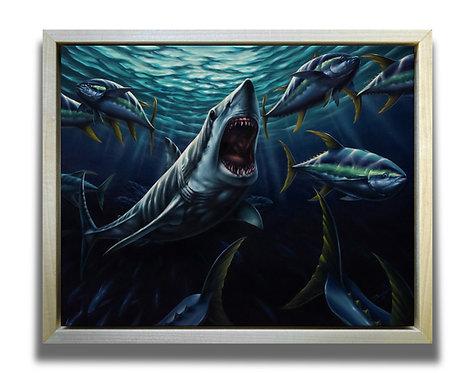 ORIGINAL Mako Shark Oil Painting