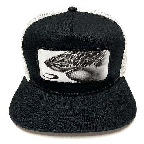 White Shark Patch Trucker Black/White