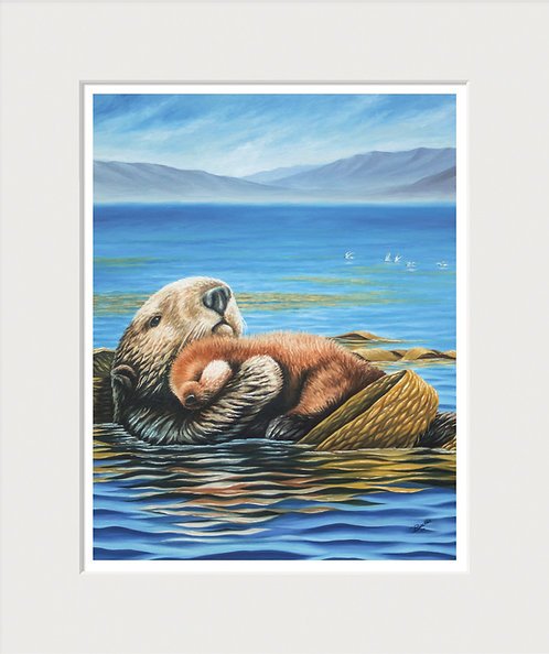 Sea Otters Art Print