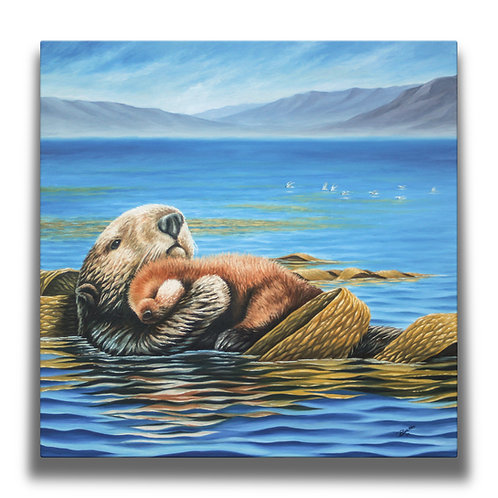 Sea Otters Gallery-Wrapped Canvas Print