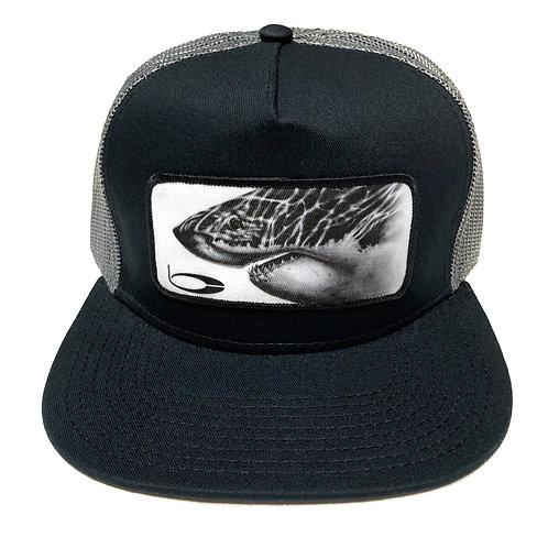 White Shark Patch Trucker Black/Gray