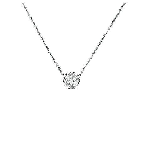 DIAMOND CIRCLE PENDANT WITH CHAIN
