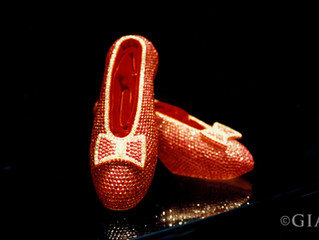 Famous July Birthstones - Harry Winston Ruby Slippers