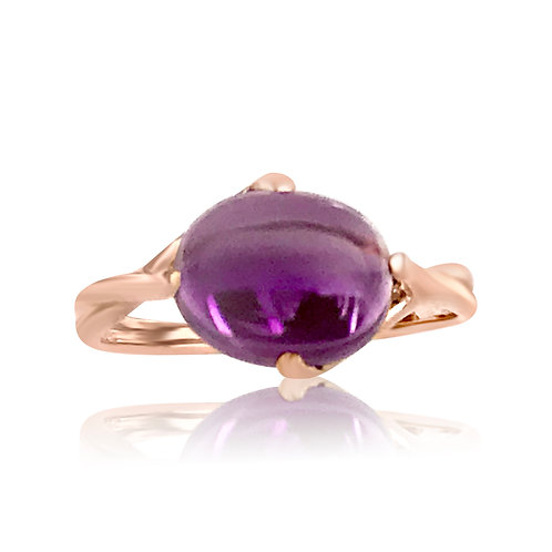 STACKABLE RING WITH AMETHYST
