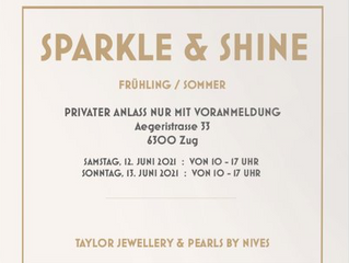 OUR SPARKLE & SHINE JEWELLERY EVENT IS BACK  PLEASE RESERVE A SPOT: taylor@bluewin.ch