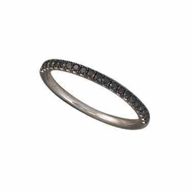 STACKABLE BLACK DIAMOND RING