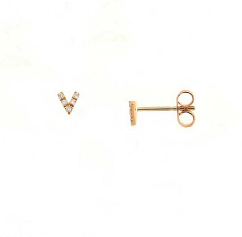 "DIAMOND ""V"" EARRINGS"