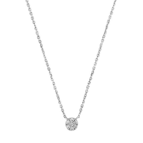 DIAMOND CIRCLE PENDANT WITH CHAIN