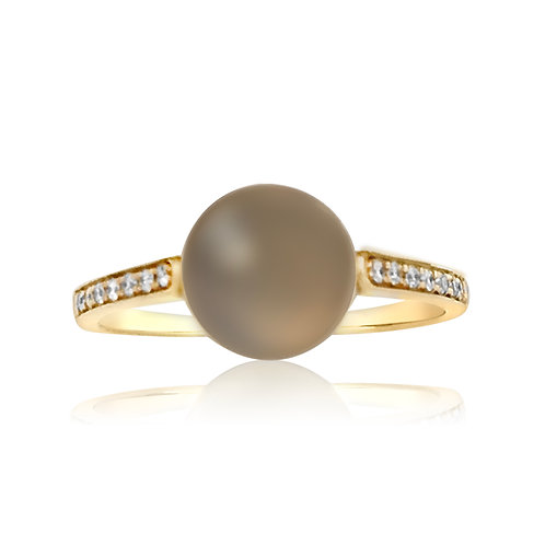 MOON STONE STACKABLE RING