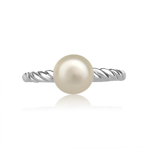 PEARL AND GOLD STACKABLE RING