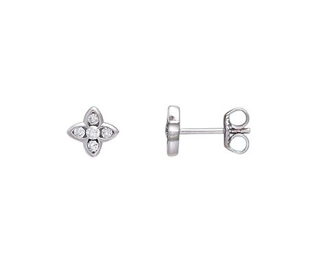 FOUR LEAF DIAMOND EARRINGS