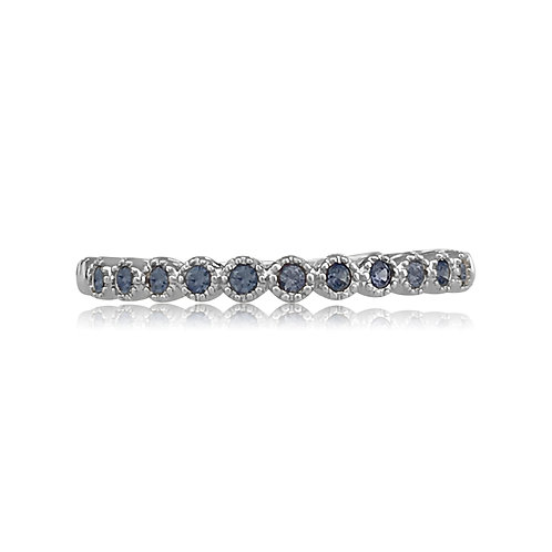 STACKABLE RING WITH BLUE SAPPHIRES