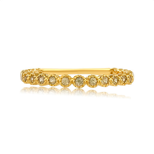 STACKABLE RING WITH YELLOW SAPPHIRES