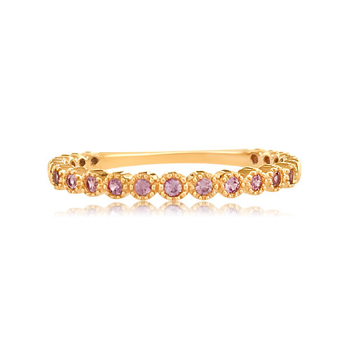 STACKABLE RING WITH PINK SAPPHIRES