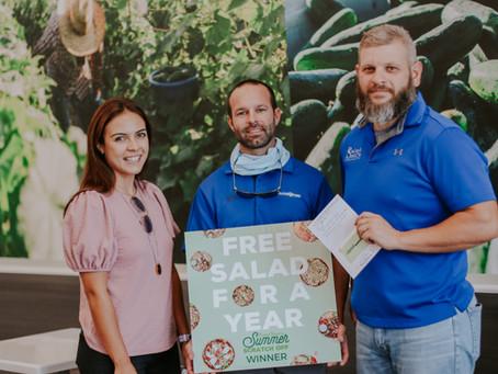 2020 Salad Station Summer Scratch-off Game Prize Awarding