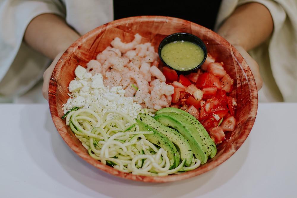 Shrimp Noodles Salad Station