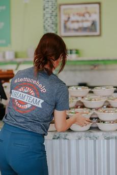 Team Lettuce Help The Salad Station