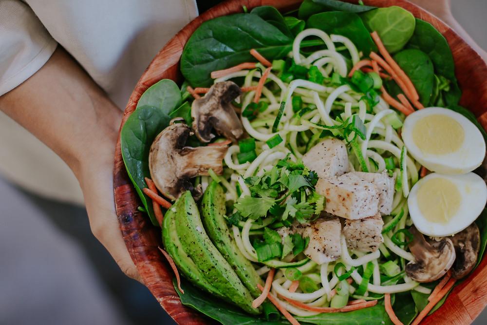 Salad Station Zoodles Salad