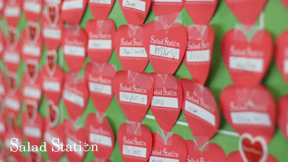 Salad Station Hearts Donation