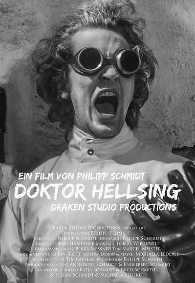 Poster Doktor Hellsing Schauspieler actor Philipp Schmidt as Professor Mabusoriarty universal horror Frankenstein