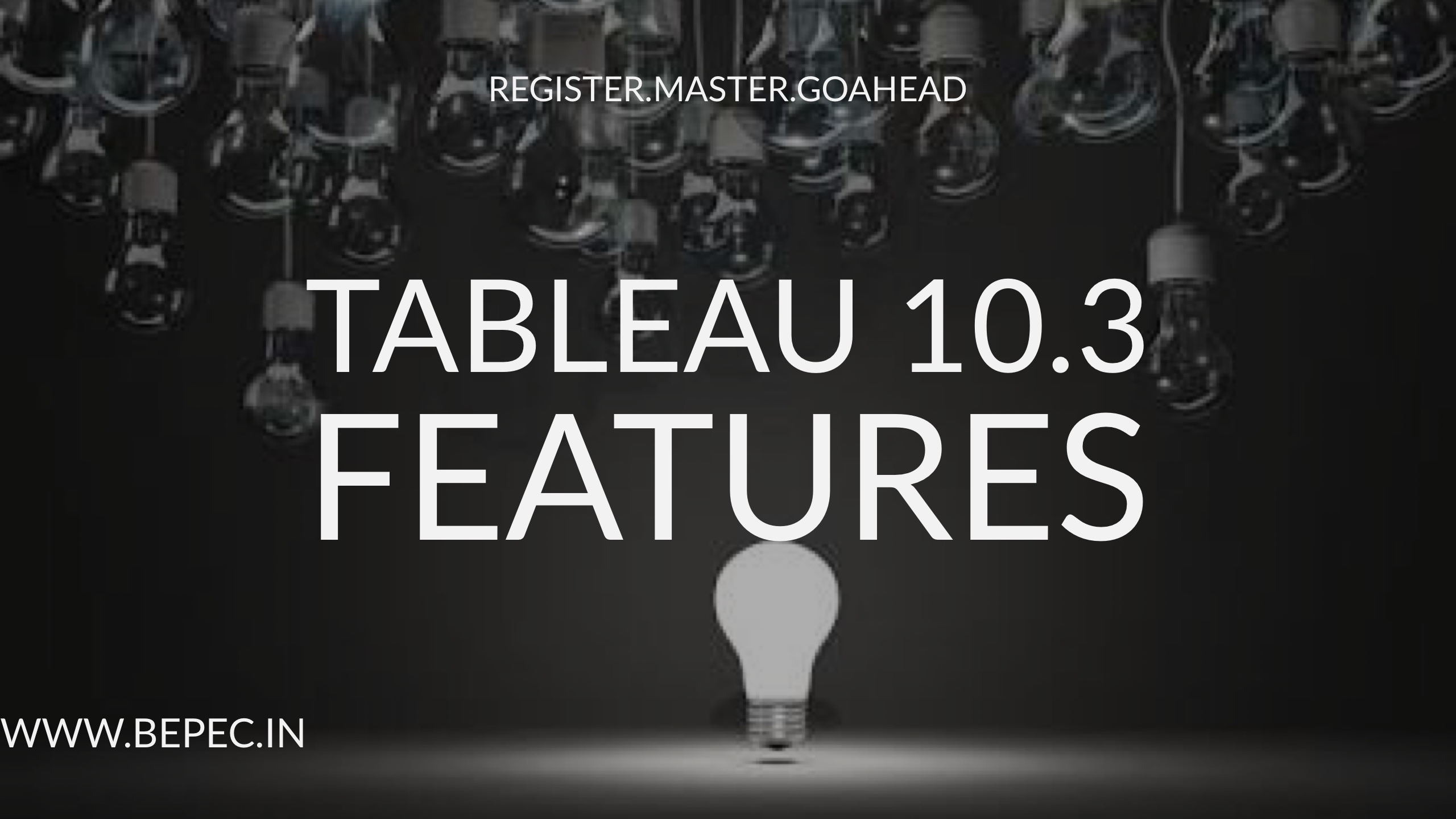 Tableau 103 features bepec why data science bengaluru baditri Images