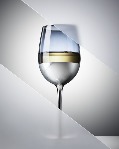 Minimal alcohol drink in a wine glass By Ian Oliver Walsh Still Life Photographer London