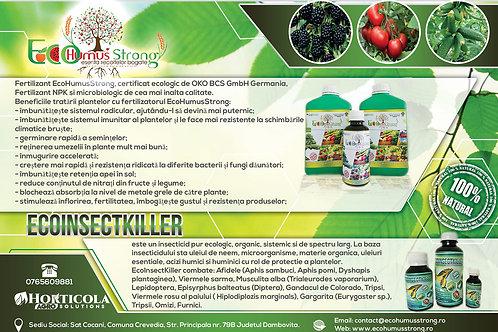 Pachet 1Litru EcoHumusStrong+ 25 ml EcoInsectKiller + 200 ml EHS GRATIS