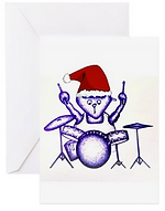 emma hames card design drummer cat