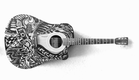 Hand Drawn Custom Guitar