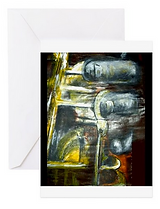 emma hames saxophone painting card