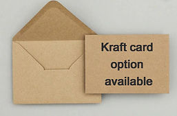 Kraft card and envelope