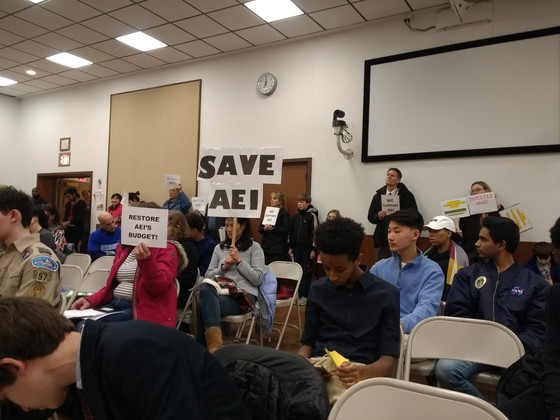 MCR stands in solidarity at BOE budget hearing