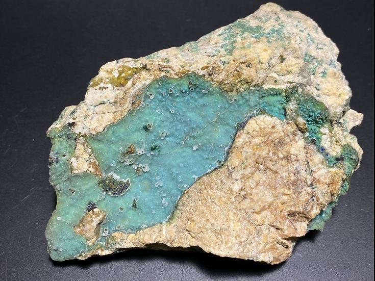 Quartz on Chrysocolla- Burra Mine, Burra
