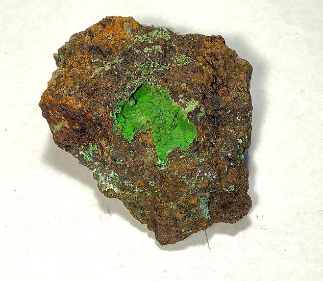 Conichalcite- Lorena Mine, Cloncurry