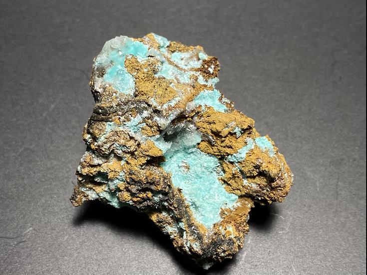 Aurichalcite, Hemimorphite,  Evelyn Mine, Pine Creek