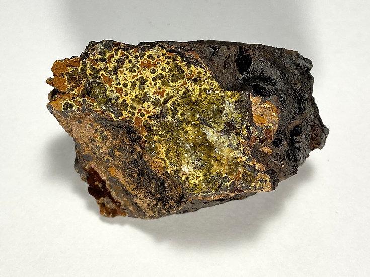 Apatite on Cyrilovite- Iron Monarch Quarry, Iron Knob