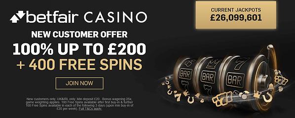 betfair online free spins offer