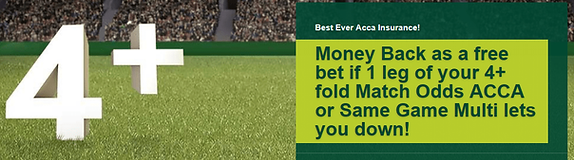online betting Acca insurance