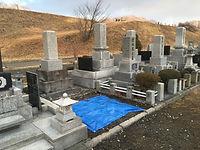 お墓の整地