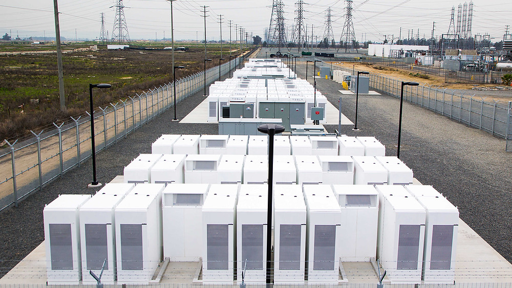 A Tesla Battery Installation in the U.S.