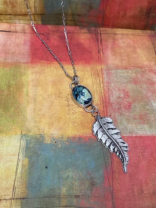 New Lander Turquoise Fern Necklace - GN