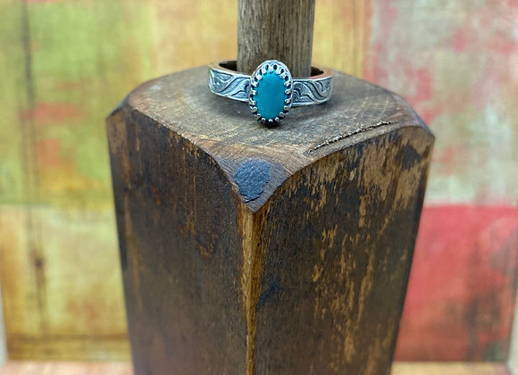Morning Star Turquoise Ring (Size: 7 1/2) - GN