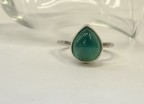 Teal Glass Ring