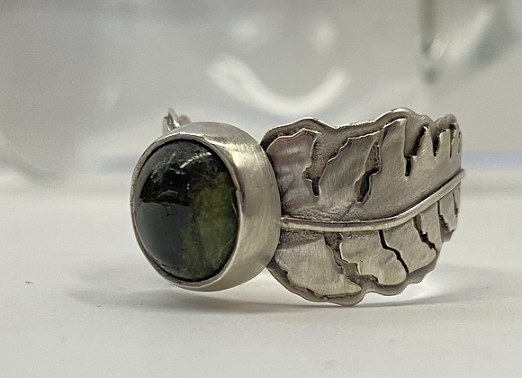 Green Tourmaline Fern Ring