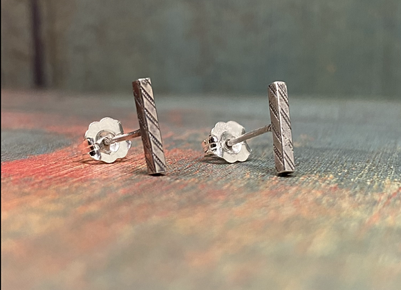 Stamped Square Bar Studs