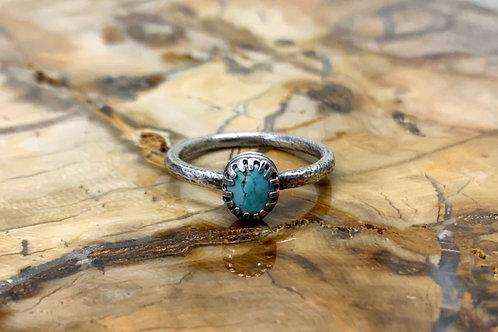 Kingman Turquoise Ring (Size: 7 3/4)