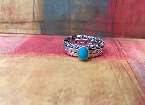 Cloud Mountain Turquoise Ring (Size: 7 3/4) - GN